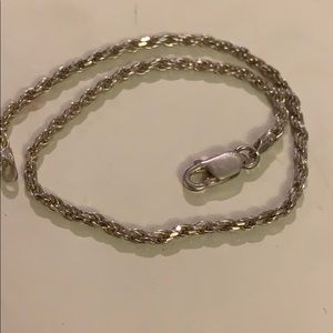 Other - Sterling silver rope bracelet